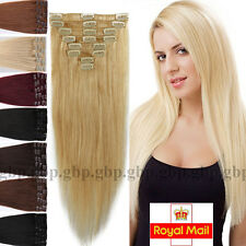 Full Head Clip in Remy Human Hair Extensions 70-110g Real Human Hair 8 PICS A400