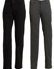 Lee Jeans Womens Relaxed Fit Plain Front Straight Leg Pant Black & Charcoal NEW