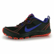 Nike Wild Trail Running Shoes Womens Black/Purple Run Fitness Trainers Sneakers