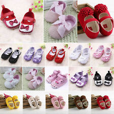Toddler Infant Baby Girls Soft Sole Crib Shoes Casual Prewalker Sandals 0 - 18M