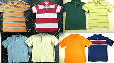 RALPH LAUREN Solid Stripe PLACE Boys Short Sleeve Collared Polo Knit SHIRT 5 6 7