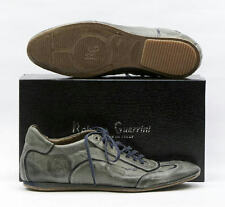 NEW! ROBERTO GUERRINI MENS GREY LEATHER LACE UP