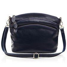 New Small Messenger Handbag Ladies Real Leather Cross Body Shoulder Bag Purse