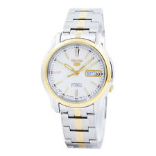 Seiko 5 Automatic Mens Analog Watch Casual Silver Band SNKL84J1 SNKL81K1
