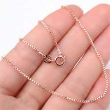 Ladies Elegant 18K Rose Gold GP Fashion Box Chain Necklace Jewelry H1160