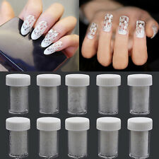1 Sheets Nail Art DIY Stickers White Lace Water Transfer Nail Foil Decals Paper