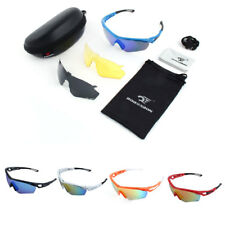 ROBESBON Authorized Outdoors Interchangeable Lens Sunglasses Cycling Glasses Set