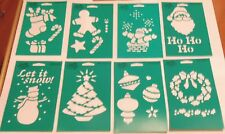 "PLAID STENCILS CHOICE OF 10 STYLES ANGEL CHRISTMAS ORNAMENTS SANTA+ 8"" x 5"" NEW"