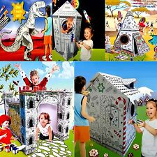 Colour Your Own Large Cardboard Figure Childrens Kids Toy Paint Craft Kit Art