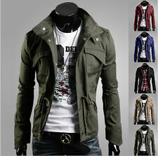 Mens Fashion Casual Jacket Coat Slim Fit Clothes Winter Warm Overcoat Outerwear.