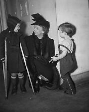 Eleanor Roosevelt at DC Children's Hospital with young polio victims Photo Print