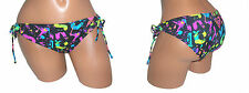 ROXY Swimsuit Bikini Bottom NEW Womens Small S Black Juniors Tie Side Low 1554
