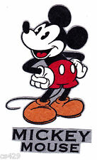 """3"""" DISNEY CLASSIC  MICKEY MOUSE NAME CHARACTER FABRIC APPLIQUE IRON ON"""
