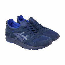 Asics Gel Lyte V Mens Blue Mesh & Suede Athletic Lace Up Running Shoes