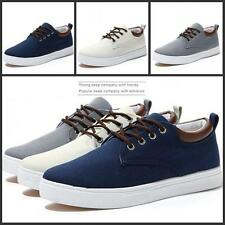 Fashion Mens canvas Casual Lace Up skate Board Shoes Sport Flat Sneakers Size