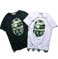Unisex Japan Classical Bape Green Monkey Summer personality Casual T-Shirts Tops