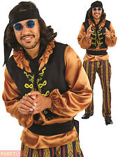 Mens 60s Rock Star Costume Adults Rock N Roll Fancy Dress Mens 1960s Outfit