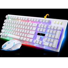 USB Wired Gaming Keyboard Backlight Illuminated Multimedia for PC Laptop