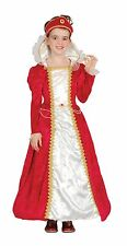CHILD RED PRINCESS COSTUME FOR MEDIEVAL & GOTHIC FANCY DRESS BOOK WEEK PARTY