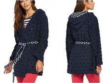 SORBET Plus Short Length Robe Dressing Gown with Heart Print in Navy (rst68.1)