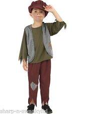Boys Poor Pauper Victorian Artful Dodger Book Day Fancy Dress Costume Outfit