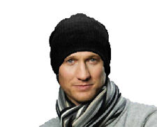 Adult Unisex Knitted One Size SLOUCH BEANIE Warm Winter Ski Hat