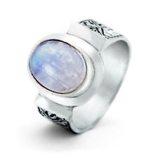 Vintage Style Moonstone Sterling Silver Ring - Clearance