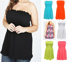 EX YOURS Strapless Smocked Top Plus Various Colour 16 18 20 22 14 26 28 30 32
