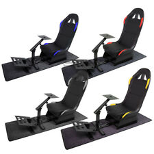 COCKPIT SIMULATOR CAR RACING SEAT GAMING CHAIR+GEAR WHEEL+PEDALS STAND KIT