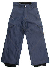 Ripzone X5 Cargo Snowboard Pants Indigo Denim Youth