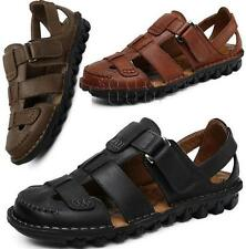 Mens Closed Toe Fisherman Beach Sandals Walking Leather Outdoor Business Shoes B