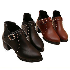 Spiked Buckled Studded Chelsea boots UK sz 1.5 2.5 3 3.5 4.5 5 6 6.5 7.5 8