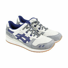 Asics Gel Lyte Iii Mens White Suede & Leather Athletic Lace Up Running Shoes
