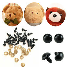100Pcs 6-16mm Plastic Safety Eyes For Teddy Bear Dolls Toy Animal Felting Black
