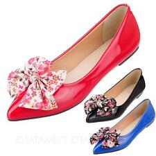 tata womens ballerinas ladies dolly shoes mens bow Ballet Flats Plus size 0-13