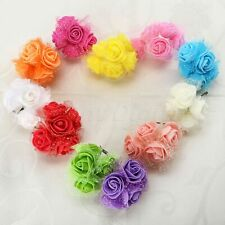 HOT Artificial PE Rose Flowers Bouquet Bridal Home Wedding Vase Decoration A99D