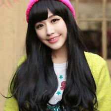 Hot Cosplay Party Womens Fashion Long Wig Hair Full Wavy Curly Wigs Brown/Black