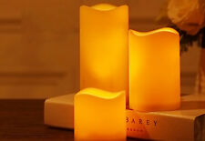 Flickering Flameless Resin Pillar LED Candle Lights with 6 Hour Timer * US STOCK