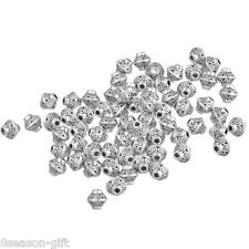 Wholesale Lots Silver Tone Bicone Spacer Beads 6x6mm