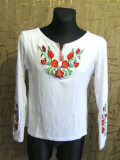 Unique Embroidered Poppies on Women Girls T-Shirt Shirt blouse Vyshyvanka NICE