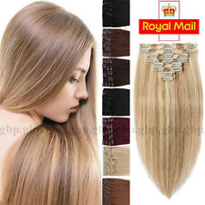 Clip in Hair Extensions Full Head 100% Real Remy Human Hair 10-22inch Thick A492