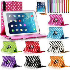 For Apple iPad Mini 1 / 2 / 3 360 Rotating Polka Dot Leather Case Cover Stand