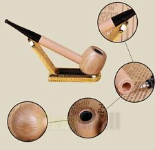 Handmade Nature Straight Solid Wooden Smoking Pipe Tobacco Cigarettes Cigar Pipe