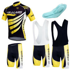 New Men Cycling Bicycle Set Jersey Shorts BIB Bike Short Sleeve Sports Clothing