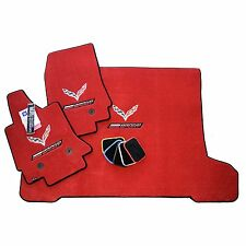 Chevrolet Corvette C7 Grand Sport Floor Mats and Cargo Mat - Adrenaline Red