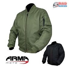 ARMR Motorcycle Bomber Jacket With Aramid Protection & C.E Certified Protectors