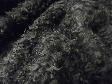 CURLY Teddy Faux Fur Fabric Material - BLACK