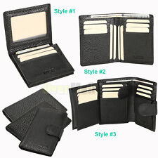 Fashion Men's Genuine Leather Wallet Pocket Card Clutch ID Credit Bifold Purse