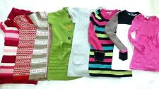 THE CHILDREN'S PLACE Girls NORDIC COLOR-BLOCK CABLE Knit TUNIC SWEATER DRESS 5 6