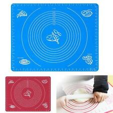 Silicone Rolling Cut Mat Sugarcraft Fondant Cake Clay Pastry Icing Dough Tool SN